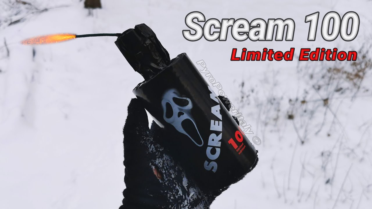"""SCREAM 100 """"Limited Edition"""" Firecracker   Huge Whistle to 100g Ground Salute!! Pyrotecnica Alberto"""