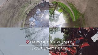 home for harvards commencement tercentenary theatre in 360°