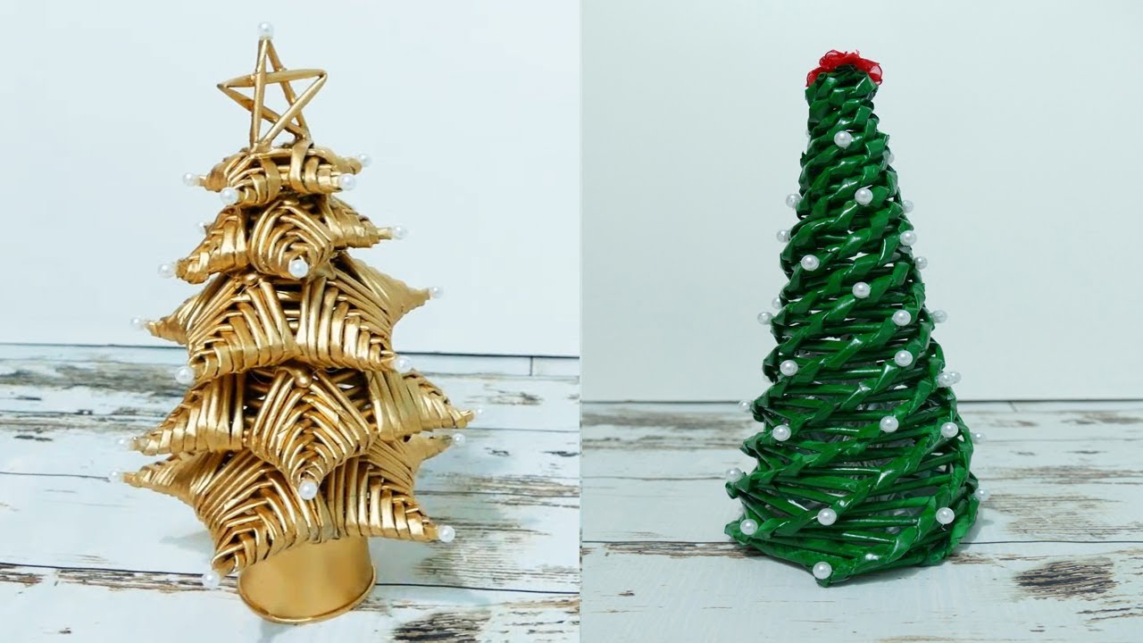 How To Make Christmas Tree By Paper, News Paper Rolls- DIY
