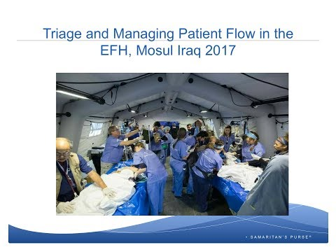 Live Webinar: Triage and Patient Flow Management in the Emergency Field Hospital