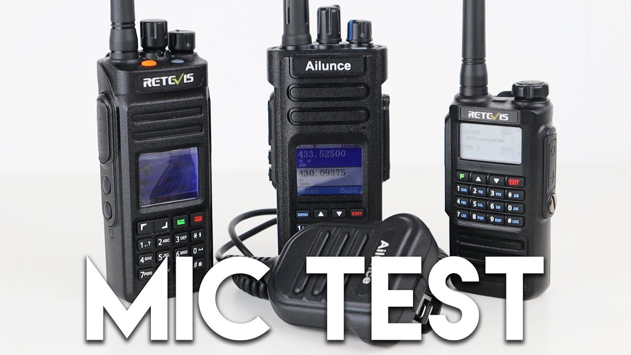 Ailunce HD1 Speaker Mic On Retevis Radios! DMR & FM Test