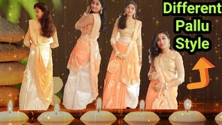 Bridal saree drape/how to wear saree in lehnga style/Different saree style/Tips for Georgette saree