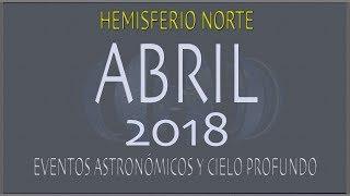 CIELO DE ABRIL 2018. HEMISFERIO NORTE