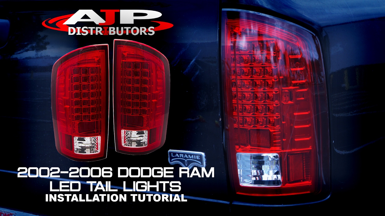 02 06 dodge ram led tail lights install ajp distributors youtube rh youtube com