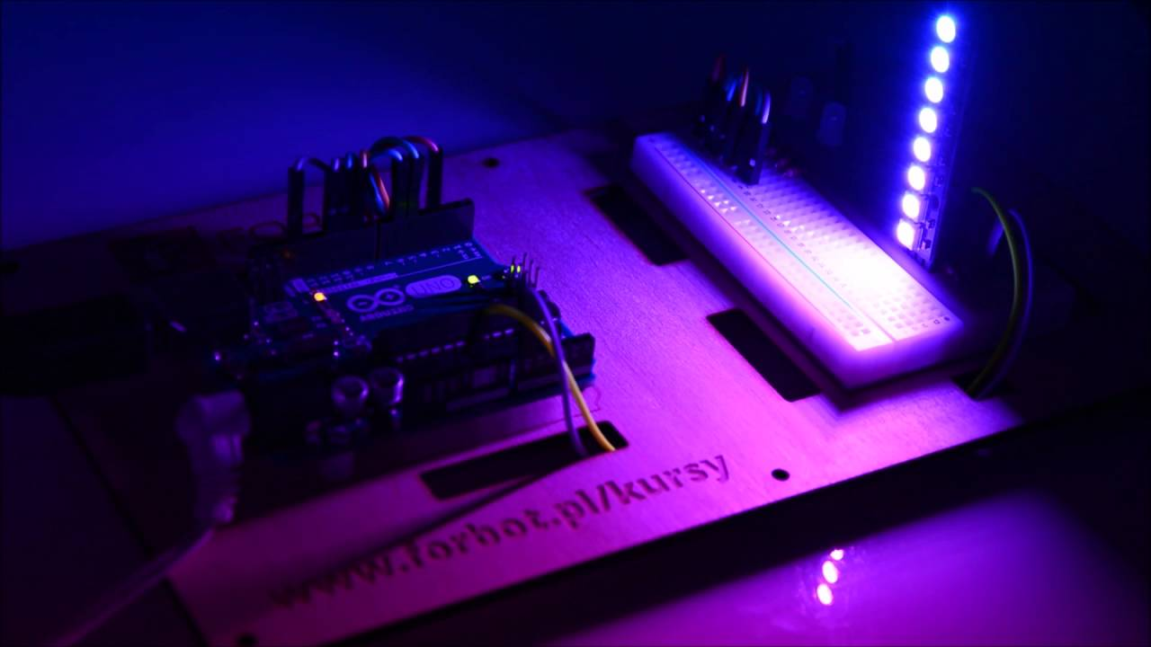 Arduino Leonardo, randomowa taśma LED RGB 2m z allegro.