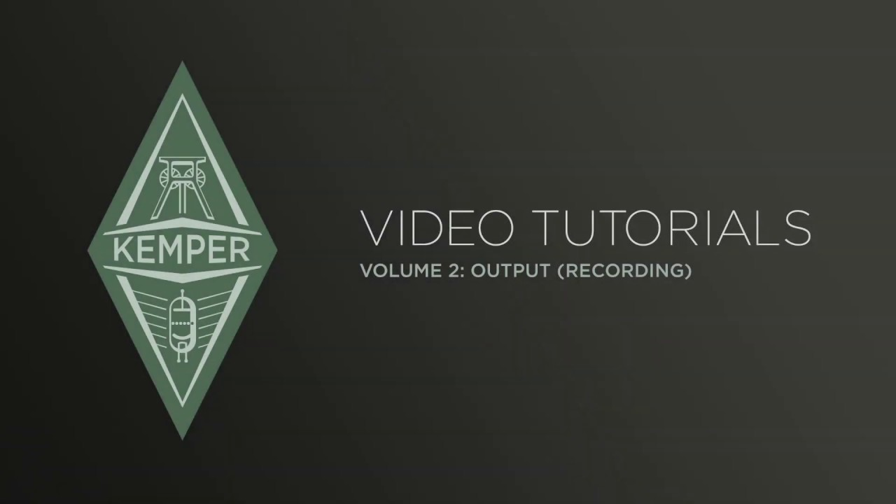 Kemper Profiler Tutorials - Output Section (japanese)