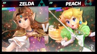 Super Smash Bros Ultimate Amiibo Fights   Request #1484 Zelda vs Peach 1 Stock 2 0 launch rate fun