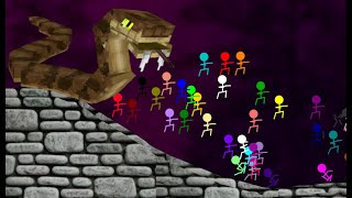 Game Hacker marble race Survival - Escape Big Angry Snake - Algodoo sTICKMAN - Survival Race