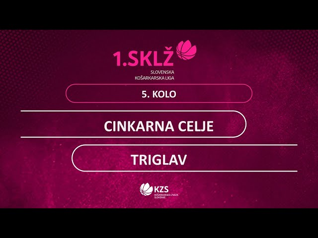 Cinkarna Celje : Triglav - 5. kolo - 1. Ž SKL - Sezona 2020/21
