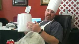 Chef rob teaching about the Chef's hat...