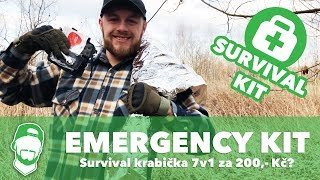 🌋SADA NA PŘEŽITÍ V DIVOČINĚ! Jak funguje emergency/survival kit za 200,- Kč?