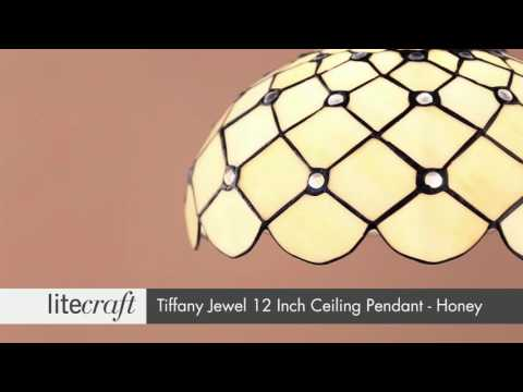 Tiffany Jewel 12 Inch Ceiling Pendant | Litecraft - Lighting Your Home