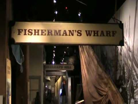 Fisherman's Wharf exhibit in Visitor's Center