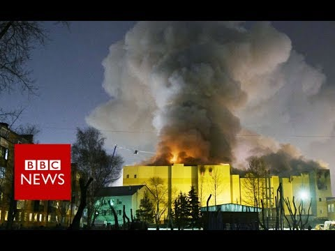 Russian shopping centre inferno kills 64 - BBC News