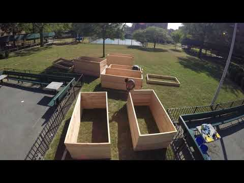 Time Lapse of New Garden Build at NYCHA's Ocean Bay Houses with Rockaway Youth Task Force