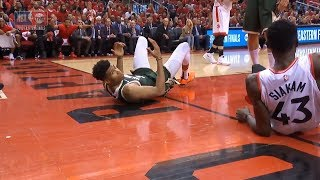 Giannis Antetokounmpo fouled out | Bucks vs Raptors Game 3