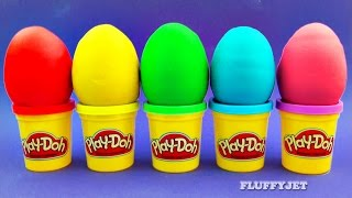 Learn Colors with Play Doh Surprise Eggs for Children Minions Sonic Thomas & Friends LPS