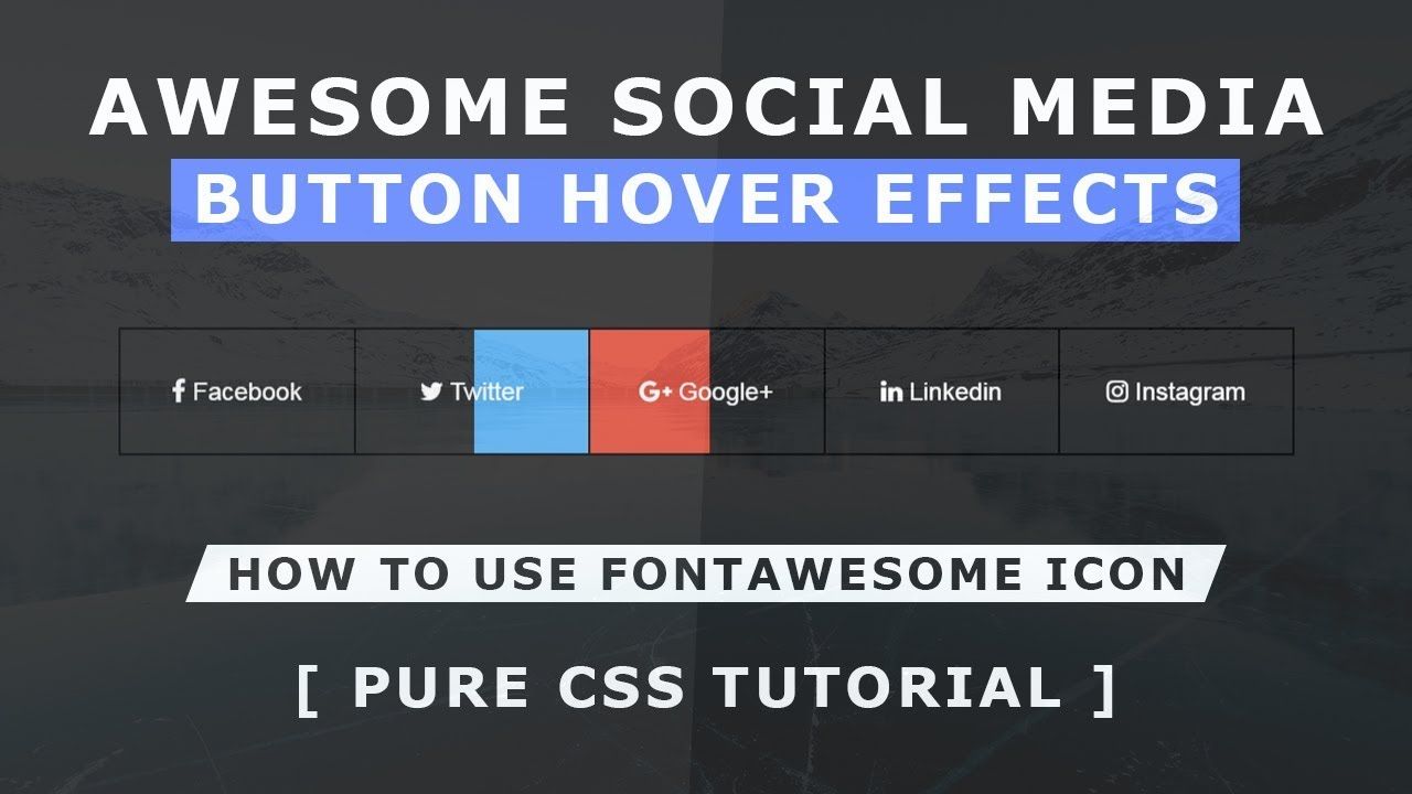 CSS Reverse Direction Hover Effects - Awesowe Social Media Button Hover  Animation - CSS Hover Effect