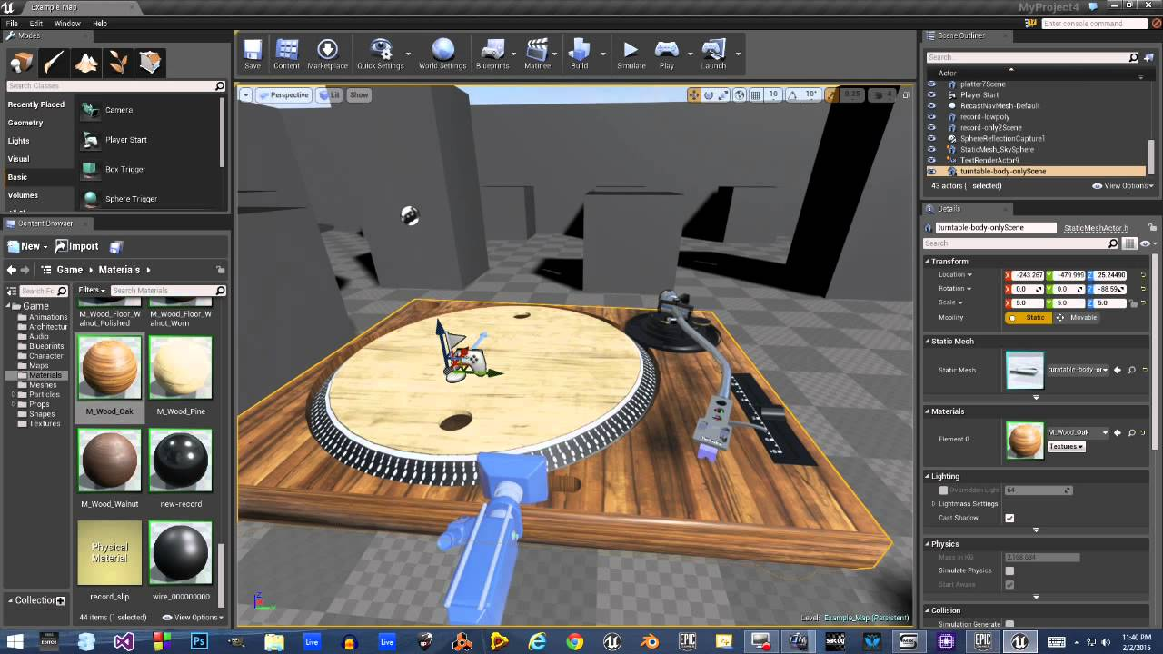 Vinyl Record in Unreal Engine 4
