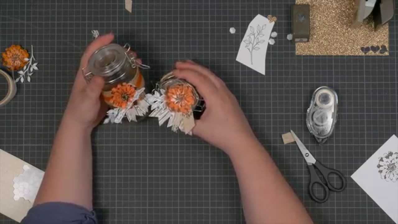 Trucs et astuces technique de stamp art comment d corer des bocaux en ve - Comment decorer un verre ...