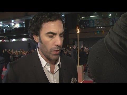 Funny Sacha Baron-Cohen interview: Actor attends Les Misérables premiere as theatre luvvie