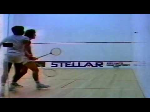 Jahangir Khan in his first finals -- 1979 Amateur World Cham