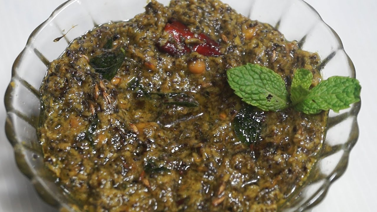 Pudina Chutney Recipe (mint chutney) in Telugu By Siri ...