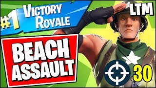 *NEW* BEACH ASSAULT LTM VICTORY ROYALE GAMEPLAY 30+ ELIMINATIONS (Fortnite Battle Royale)