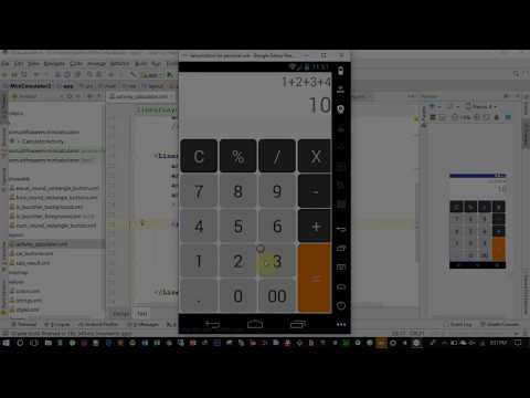 Designing A Beautiful Calculator Layout In Android Using GridLayout