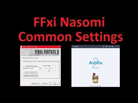 FFxi Nasomi Common Settings Guide