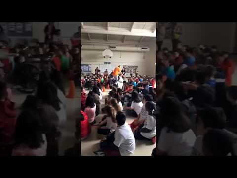 Mr. Peace Raps at Schafer Elementary School in Lombard, Illinois