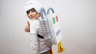 Disfraz de astronauta casero - Manualidades carnaval niños