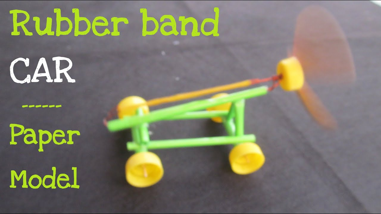 How To Make A Paper Rubber Band Powered Car Air Car