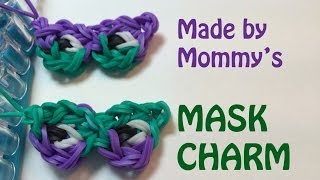 Rainbow Loom Charm: Mask for Mardi Gras or Purim