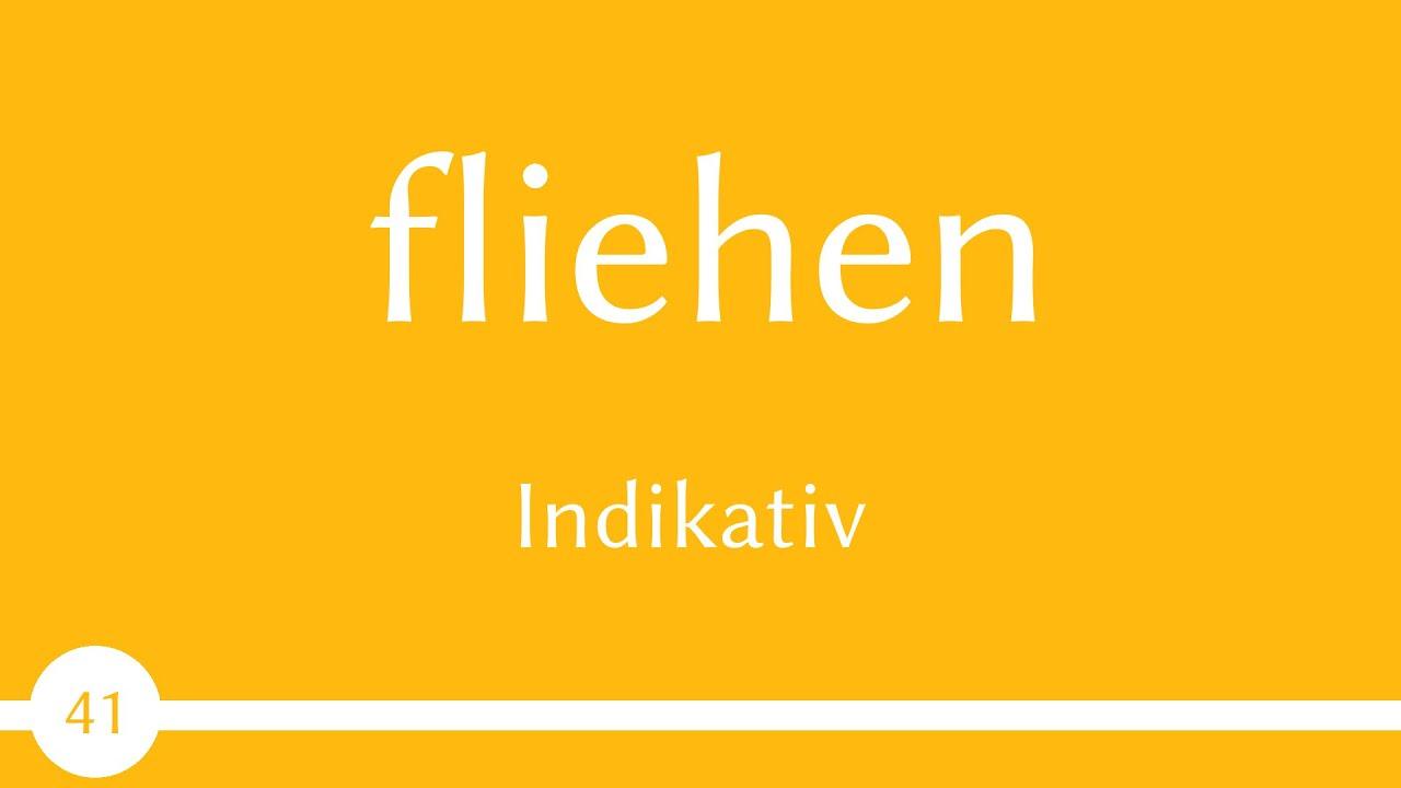 Download Verb - fliehen - Präsens, Präteritum, Perfekt - Konjugation (Verb 41) -