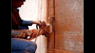 Алмазная резка кирпичной стены ручным резчиком(, 2017-03-15T20:35:15.000Z)