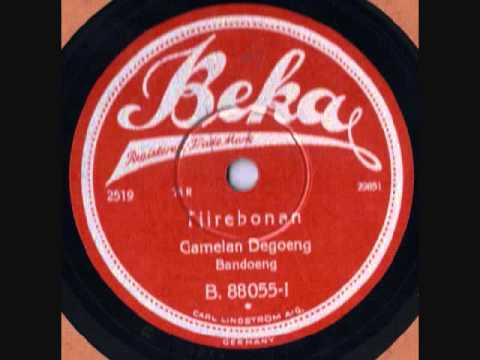Gamelan Degoeng (Degung) Beka 88055 Tjirebonan 78 rpm