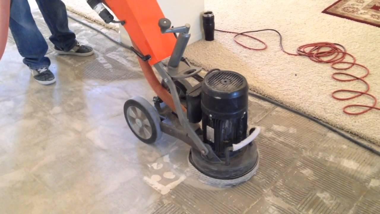grinding thinset removal after tile demolition