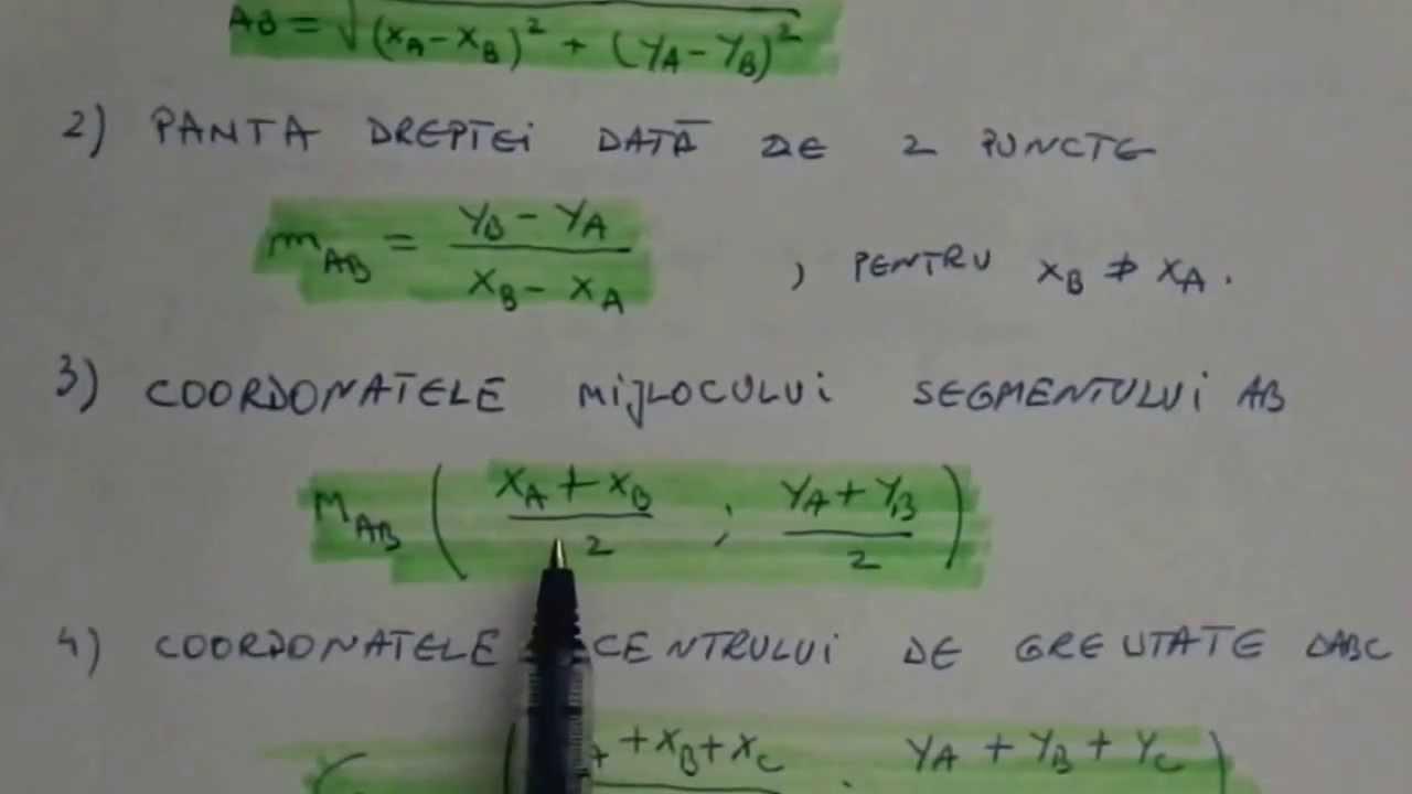 ecuația liniei de tendință)