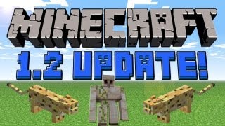 Ocelot,Iron Golem,Upside Down Stairs & More 1.2 Features (Review) :: Minecraft 1.2