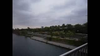 Дунай. Вена. Мост через Дунай. Vienna, Danube. Bridge over the Danube