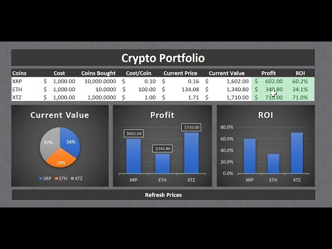 Refreshable Crypto Portfolio In Excel (in Less Than 30 Minutes)
