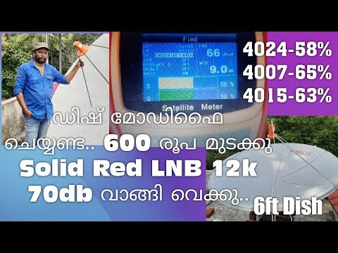 dialog tv 45° East Dish setting MPEG2 & MPEG4 Channel list full HD