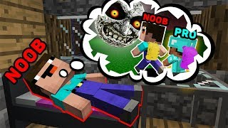 Minecraft NOOB vs PRO : HOW TO GET OUT OF A SCARY DREAM BABY NOOB? IN MINECRAFT!