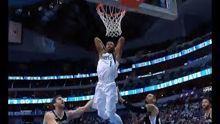 Mavericks' Rookie Dennis Smith Jr. Throws Down Huge Dunk vs. Spurs