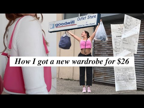 Literally getting an entire wardrobe for $26 | Goodwill Outlet Try-On Haul