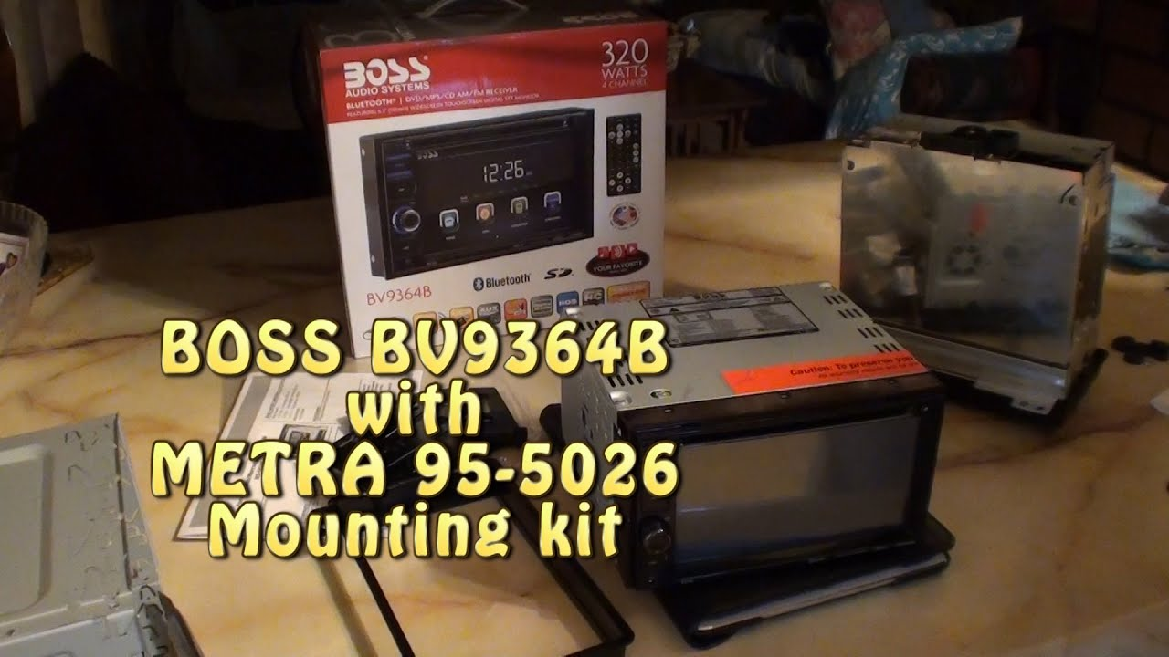 Boss Bv8962 Wiring Harness Simple Diagram Options Audio Bv9364b With Metra 95 5026 Mounting Kit Mustang Cobra Svt Snow Plow