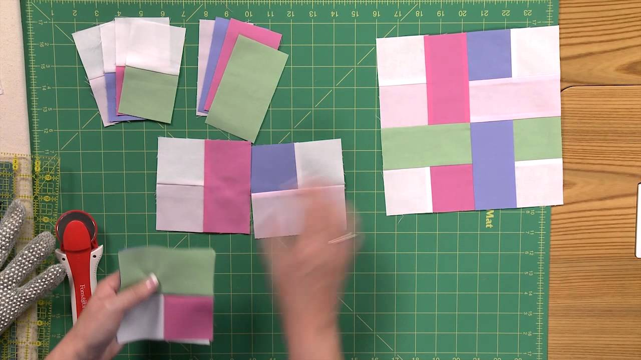 How To Make The Woven Scrappy Strips Quilt Youtube