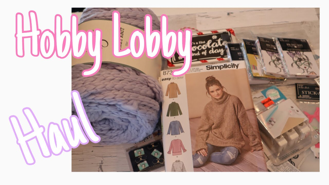 Hobby Lobby Craft And Sewing Pattern Haul September 2018 Youtube