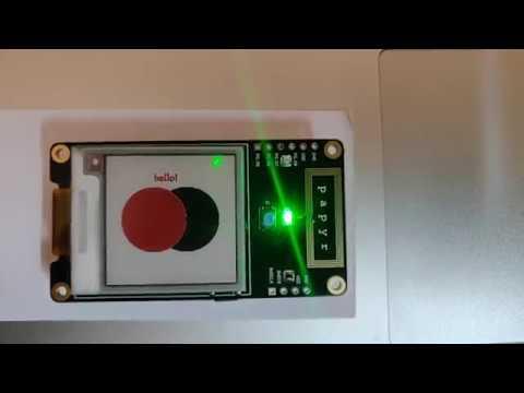 Electronut Labs Papyr nRF52840 epaper display - MQTT Demo